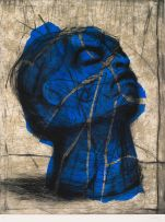 William Kentridge; Blue Head