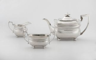 A George III silver teapot, Peter and William Bateman, London, 1810