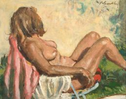 Robert Broadley; Reclining Nude