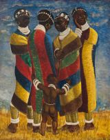 Le Roux Smith Le Roux; Four Ndebele Women