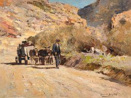 Errol Boyley; Donkey Cart on a Country Road