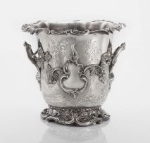 An Old Sheffield plate wine cooler, maker's initials H R, 19th century
