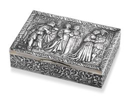 A German silver box, Neresheimer & Söhne, Hanau, with English import marks for Berthold Muller, London, 1910