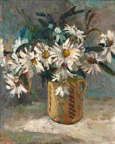Freida Lock; Still Life with Daisies
