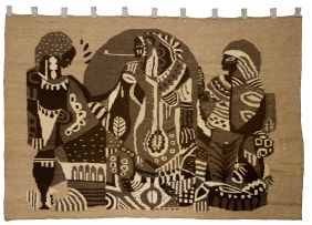 Rorke's Drift; Tapestry with Abstract Figures
