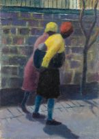Gerard Sekoto; Women and Baby in the Street
