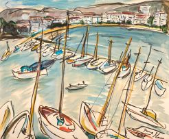 Irma Stern; Boats on the French Riviera