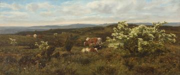 Frank Walton; Near Dorking, Where The Hawthorne Blows