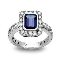 Diamond and sapphire dress ring