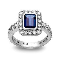 Diamond and sapphire dress ring