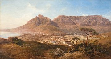 Charles Rolando; A View of Cape Town and Table Mountain from Signal Hill