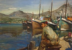 Terence Cuneo; Fisherman, Hout Bay