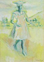 Gerard Sekoto; Woman Walking