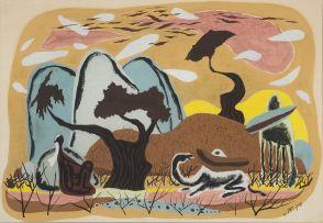 Yohanan Simon; Landscape with Animals