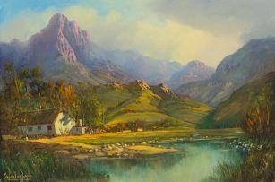 Gabriel de Jongh; Farm Landscape