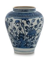 A Japanese Arita blue and white vase, late 17th/early 18th century