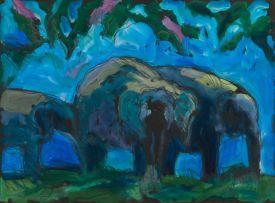 Theodore Waddell; Herd of Elephants