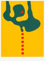 Wopko Jensma; Abstract Form on Yellow Background