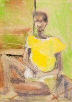 Louis Maqhubela; Seated Man