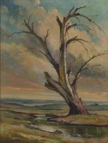 Christopher Tugwell; Tree by a Stream