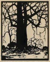 Jacob Hendrik Pierneef; Willows in Winter (Niland 78)