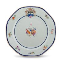 A Chinese Export famille-rose Armorial plate, 1785-1791