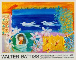 Walter Battiss; Walter Battiss Comprehensive Exhibition, Pretoria Art Museum, poster