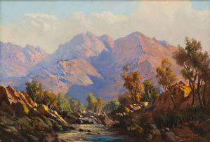 Tinus de Jongh; Mountain Stream
