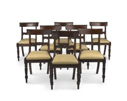 A set of eight Victorian mahogany dining chairs