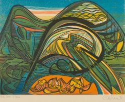 Cecil Skotnes; Tropical Island (No. 1, from the portfolio Baudelaire's Voyage)