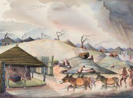 David Mogano; Phokwane Tribal Villege (sic)