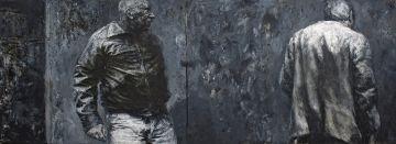 Johann Louw; Two Men Against Wall