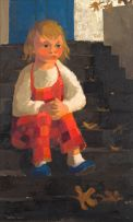 Marjorie Wallace; Sitting on the Steps