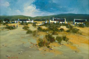 Mel Brigg; Cape Cottages in Landscape
