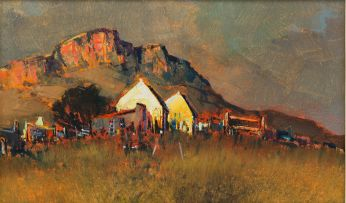 Mel Brigg; Houses at the Foot of the Mountain