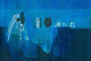 Lionel Abrams; Blue Wedding Scene