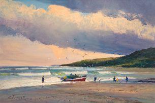 Christopher Tugwell; Fishermen on the Beach