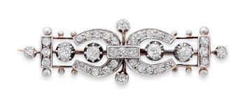 Late Victorian diamond brooch