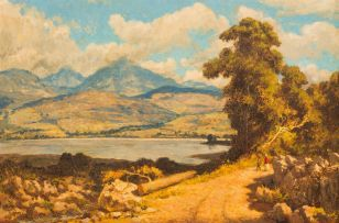 Edward Roworth; Landscape with Lake and Mountains