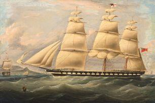 Follower of William John Huggins; Two British Men-of-War in Table Bay