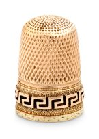 14ct gold thimble
