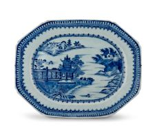 A Chinese blue and white Nanking dish, Qing Dynasty, 18th century