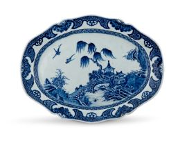 A Chinese Export blue and white Nanking dish, Qing Dynasty, 18th century