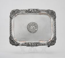 An early Sheffield plate salver, early 19th century