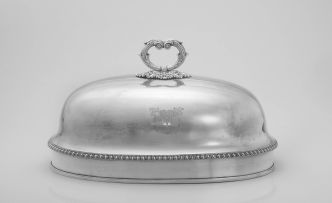 A Sheffield-plate dome, 19th century