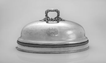 A Sheffield-plate dome, first half 19th century