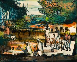 Walter Battiss; African Afternoon