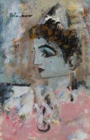 Carl Büchner; Portrait of Pierrot