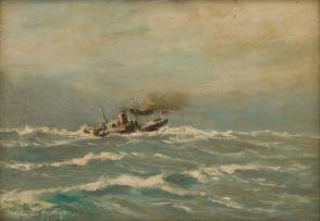 George William Pilkington; Ship at Sea