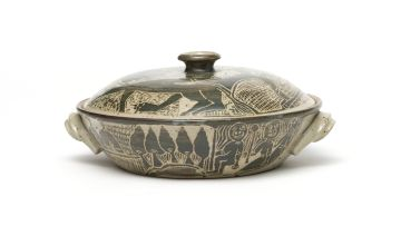 A Rorke's Drift stoneware tureen and cover, Lindumusa Mabaso